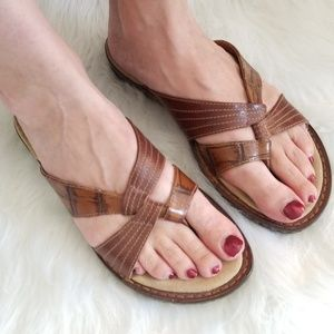 💖 Clark's Artisan Brown Leather Sandals size 7.5